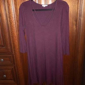 Long sleeve soft dress